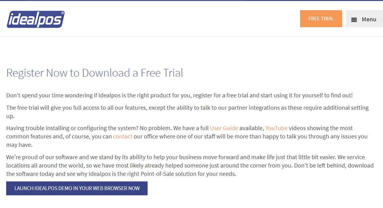 Idealpos Streamlines Trials on the Web to Increase Sales and