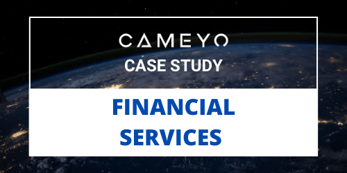 Image for a Cameyo blog post about a Financial Services customer