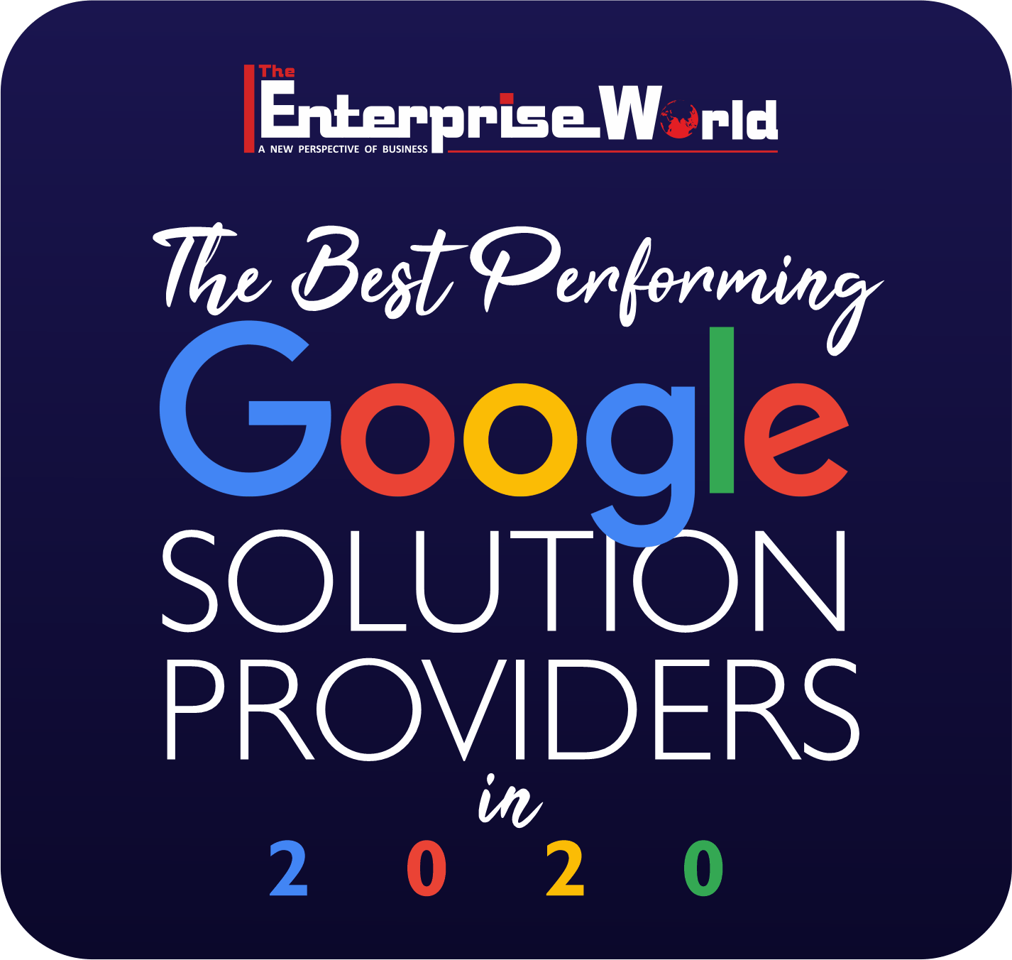 Image recognizing Cameyo's award for Best Performing Google Solution Providers of 2020